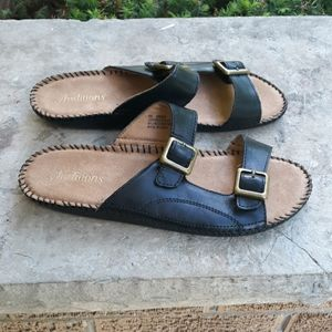 Auditions Spring Leather Casual Slide Sandals